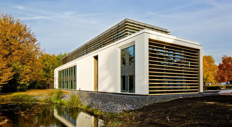 Hightech support building voor het mondiale hoofdkantoor van Bayer